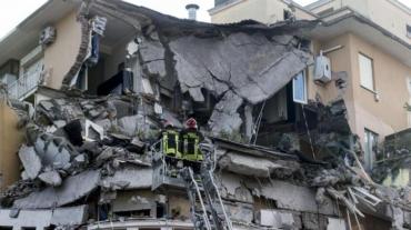 Il palazzo crollato a Roma il 22 gennaio