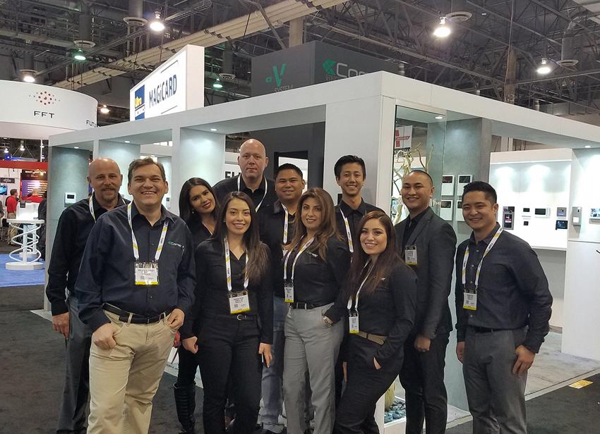 Il team di Comelit a Las Vegas