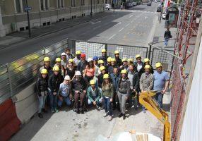 Futuri ingegneri in visita al primo condominio riqualificato e certificato Gbc
